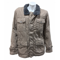 Jeep Sherpa Lined Twill Military Jacket