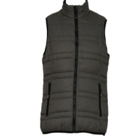 Jeep Ladies Pearlised Poly Puffer Gilet - Fatigue