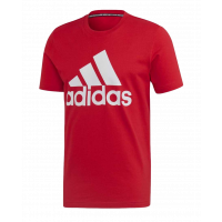 Adidas Badge Of Sport (BL/SJ) Tee - Scarle Red