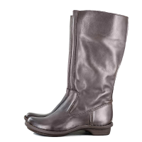Tsonga Ladies Leather Mid-Calf Boot In Choc Relaxa
